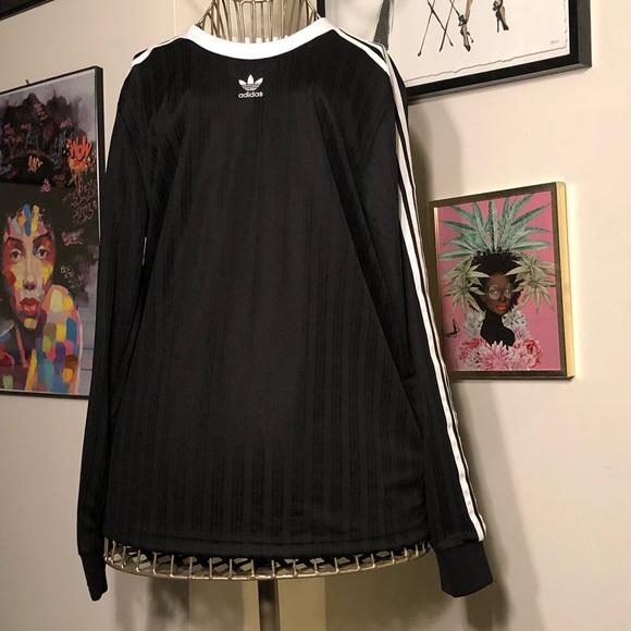 b2135c706df60 adidas Tops | Originals 3 Stripe Long Sleeve Black Tee | Poshmark